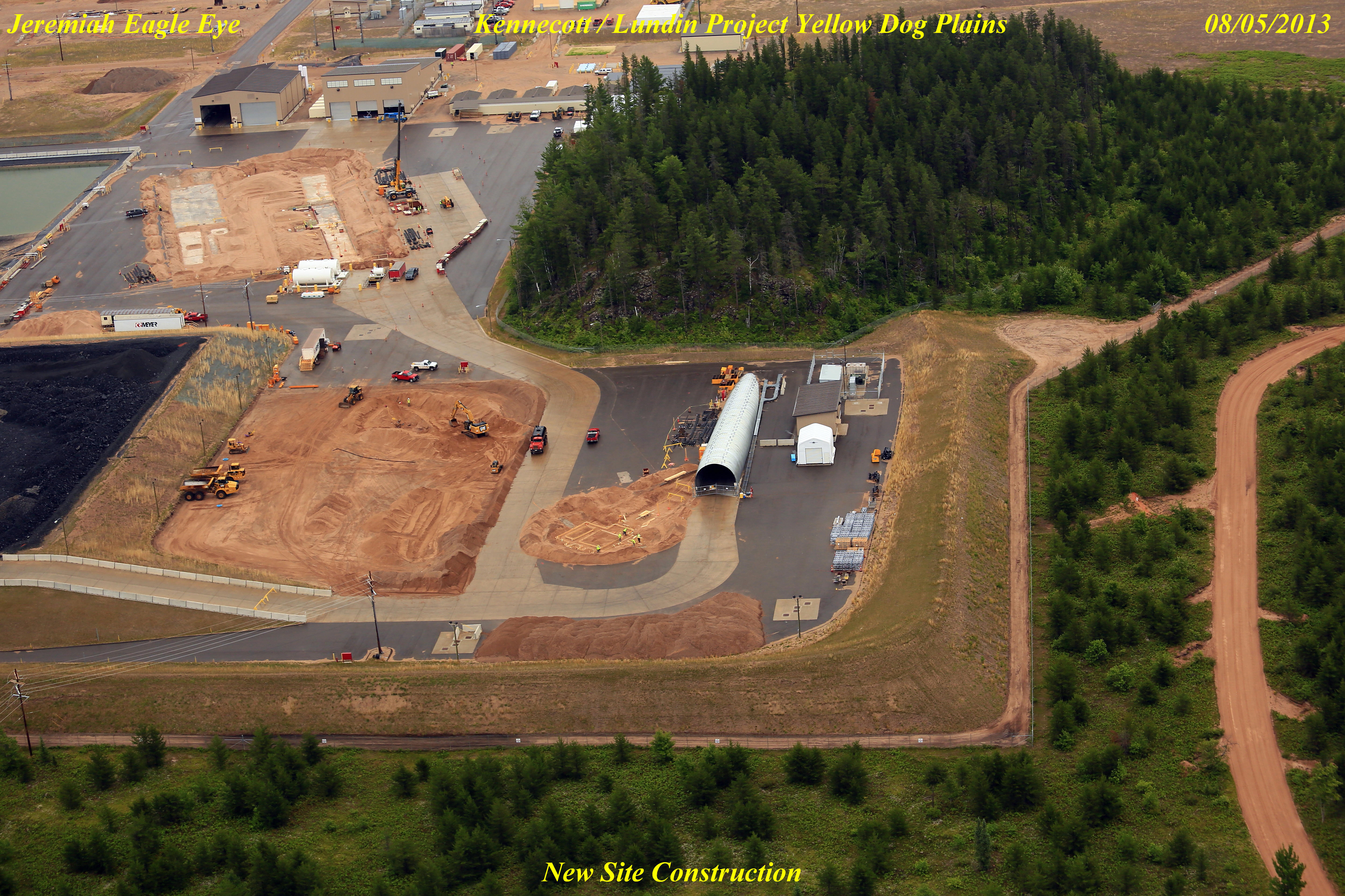 Lundin Eagle Mine on the Yellow Dog Plains, site construction in 2013