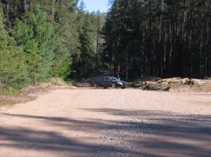 Cop car blocking County Road AAA