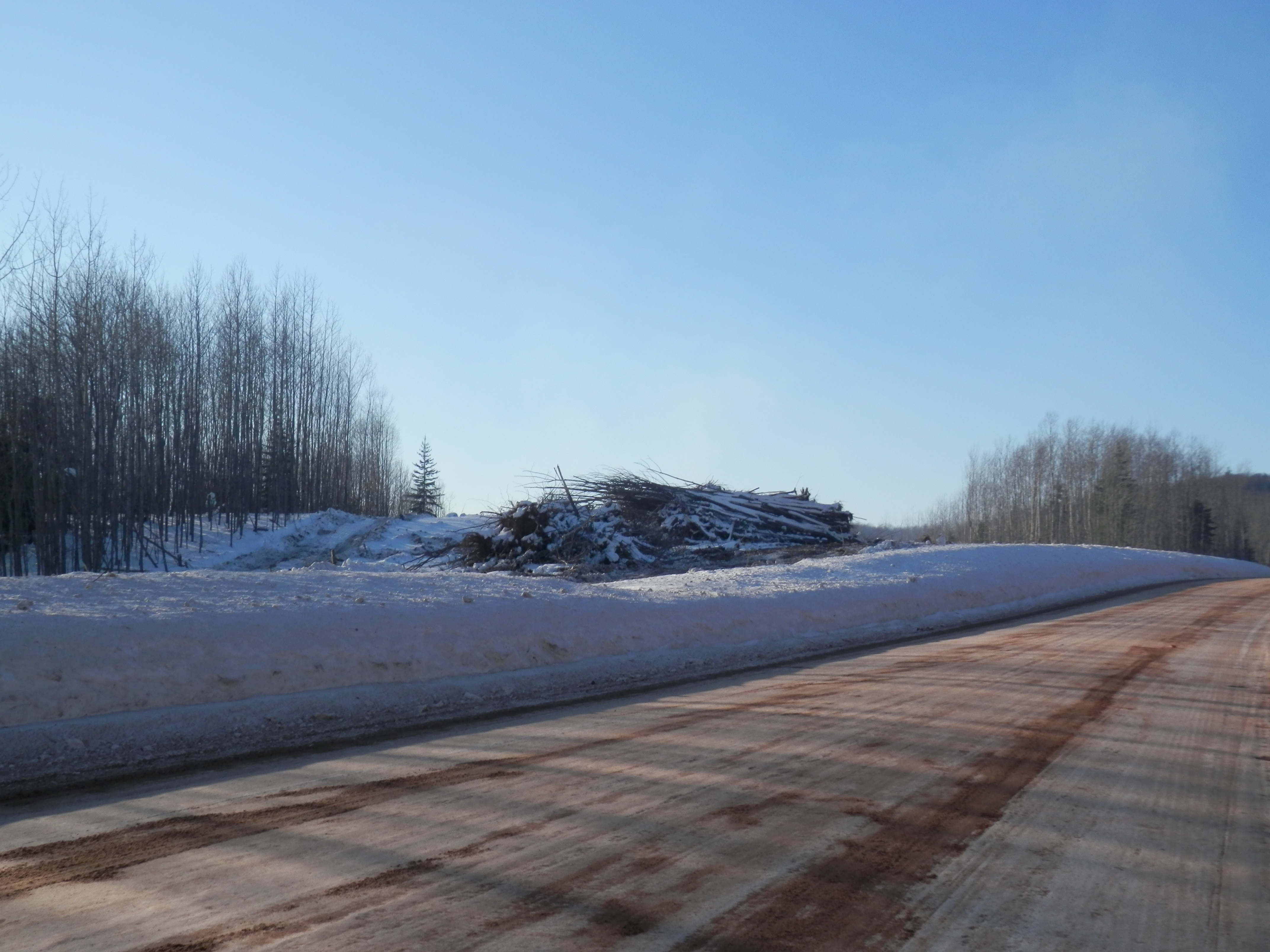 Clearing on County Road Triple A in Northern Marquette County.