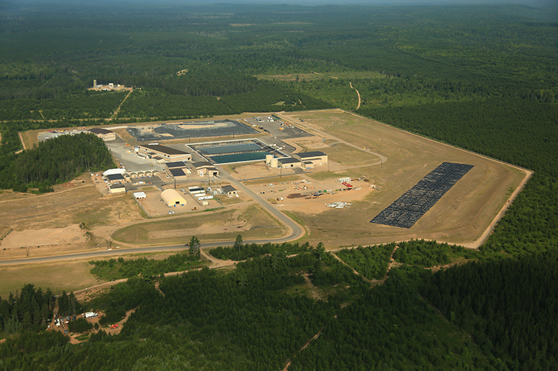 Aerial view of the Lundin Eagle Mine on 7-31-2014. Courtesy of Jeremiah Eagle Eye.