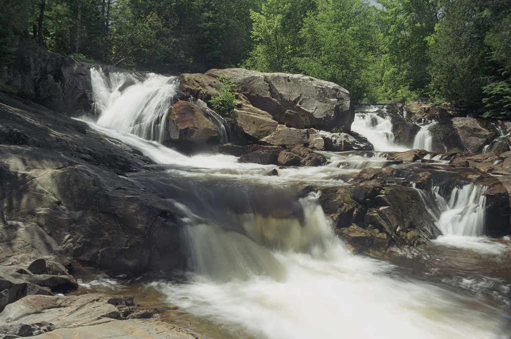 Yellow Dog Falls, also known as Hills Falls, are part of the Yellow Dog River Community Forest