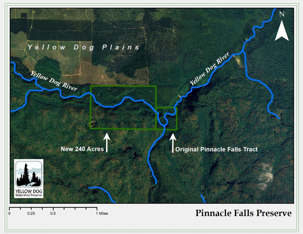 Map of the New Pinnacle Falls Preserve