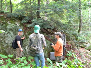 Northern Michigan University professor, Matt VanGrinsven, explains the rock types.