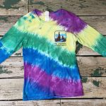 Purple/yellow/green/blue long-sleeve tie-dye
